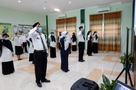 Upacara Memperingati HUT Kemerdekaan Republik Indonesia ke 75 Secara Virtual