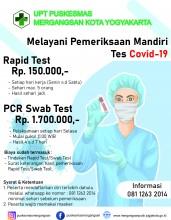 Pemeriksaan Mandiri Rapid Test/Swab Test Covid-19